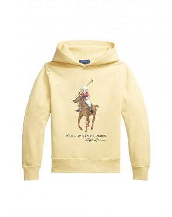 POLO RALPH LAUREN - Polo Bear and Big Pony hoodie 710853309 - Yellow