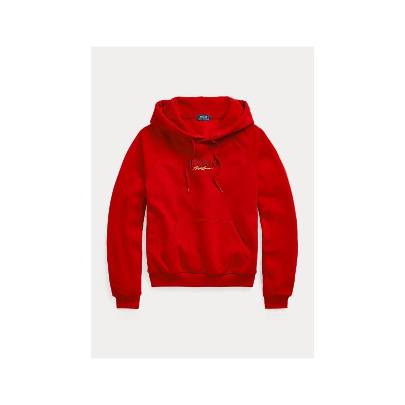 POLO RALPH LAUREN - Felpa con Cappuccio e Logo - Red