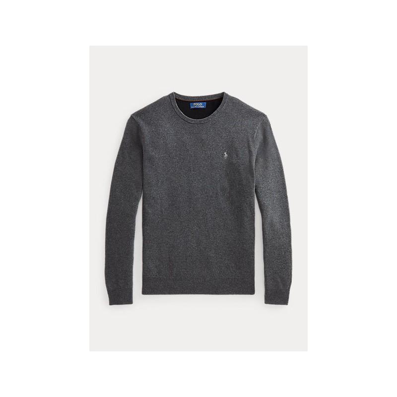 POLO RALPH LAUREN - Maglia a girocollo in lana merino 710667378 - Grey