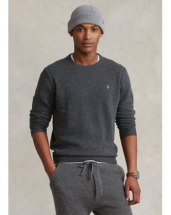 POLO RALPH LAUREN - Merino wool crewneck sweater 710667378 - Gray
