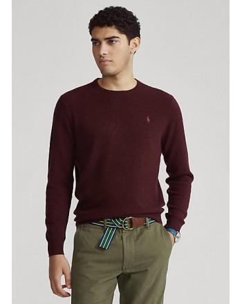 POLO RALPH LAUREN - Merino wool crewneck sweater 710667378 - Wine