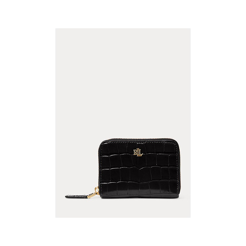 POLO RALPH LAUREN - Croco Leather Wallet - Black