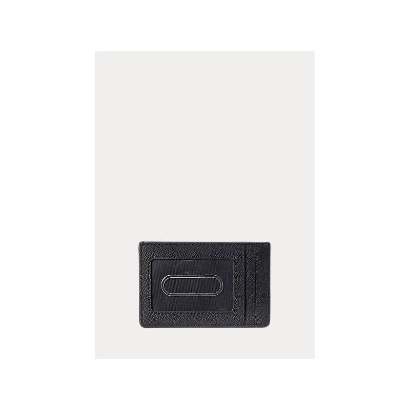POLO RALPH LAUREN -Leather Card Holder - Black