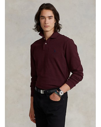 POLO RALPH LAUREN - Custom Slim-Fit piqué polo shirt 710681126 - Wine