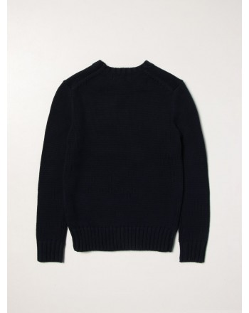 POLO RALPH LAUREN - Cotton sweater with flag 321/322668285 - Navy