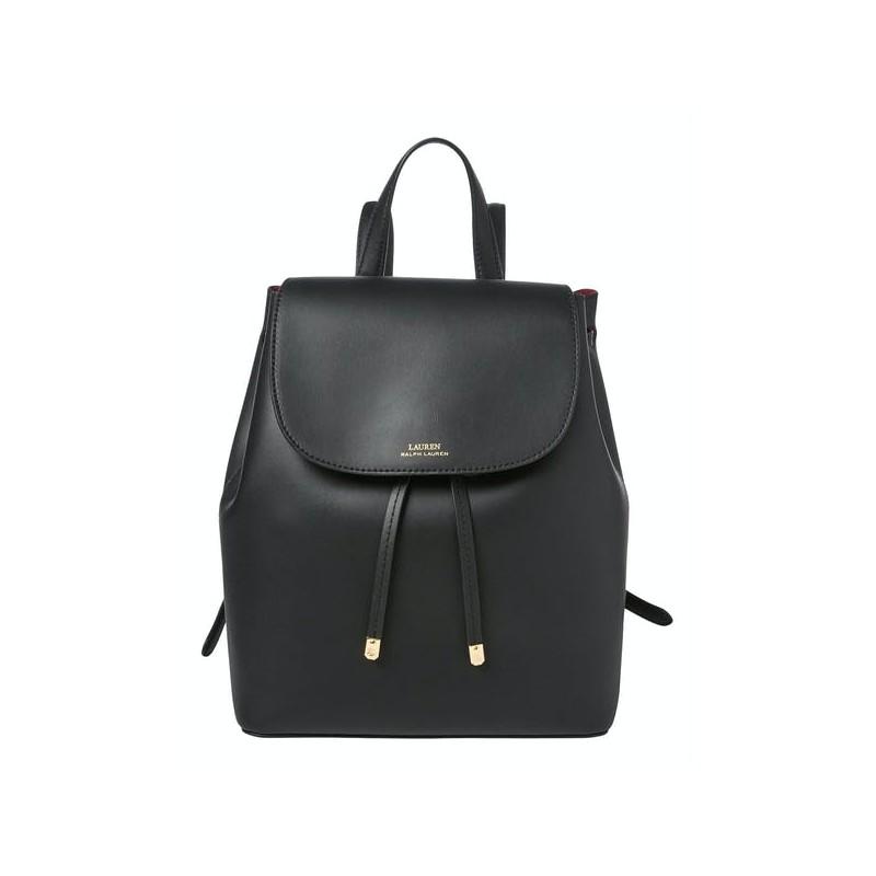 POLO RALPH LAUREN - Medium Flap Backpack - Black/Crimson
