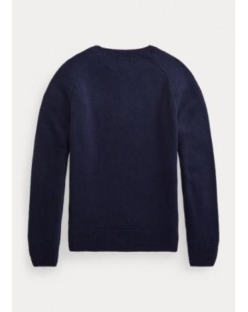 POLO RALPH LAUREN - Crewneck wool sweater 321/322850966 - Navy