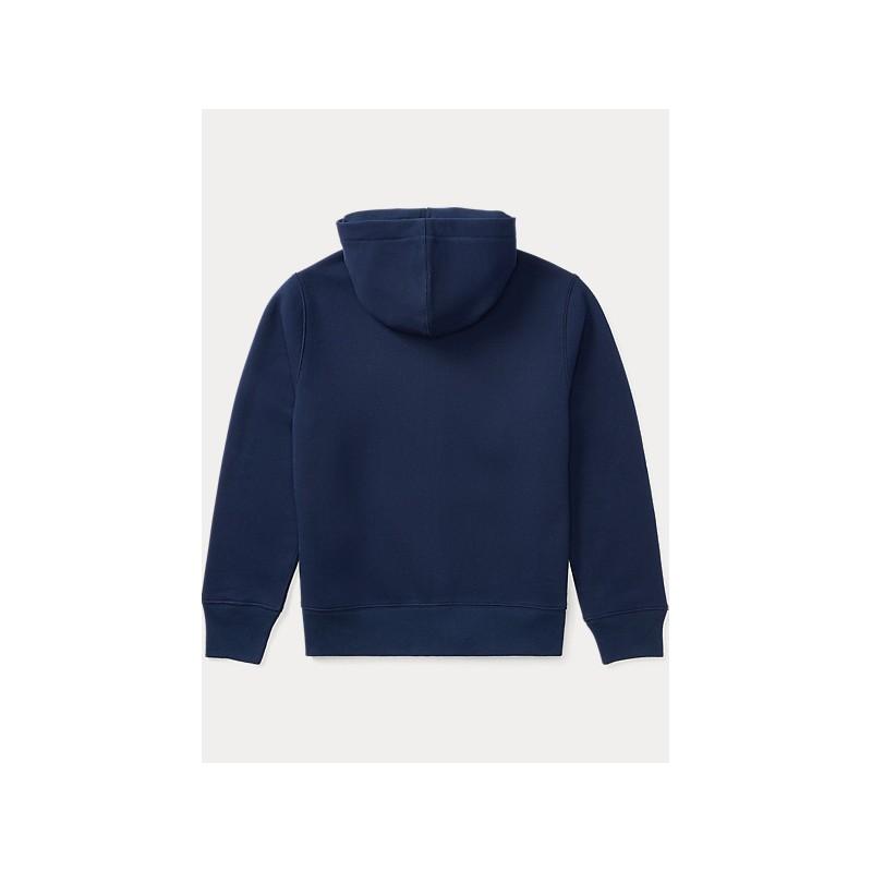 POLO RALPH LAUREN - Felpa in misto cotone con cappuccio 321/322547626 - Navy