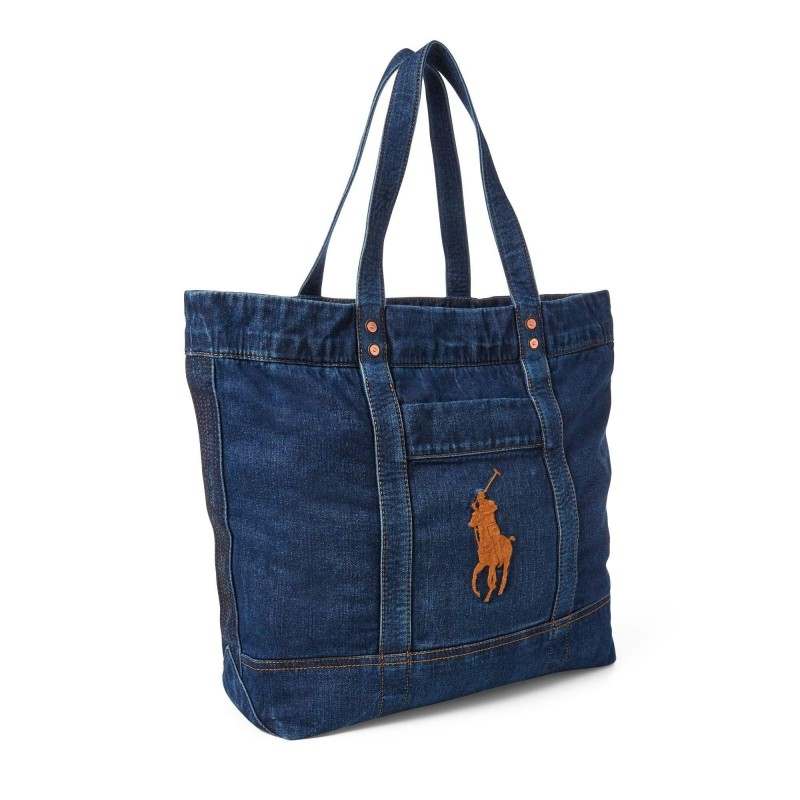 POLO RALPH LAUREN - BIG PONY Tote Bag - Denim