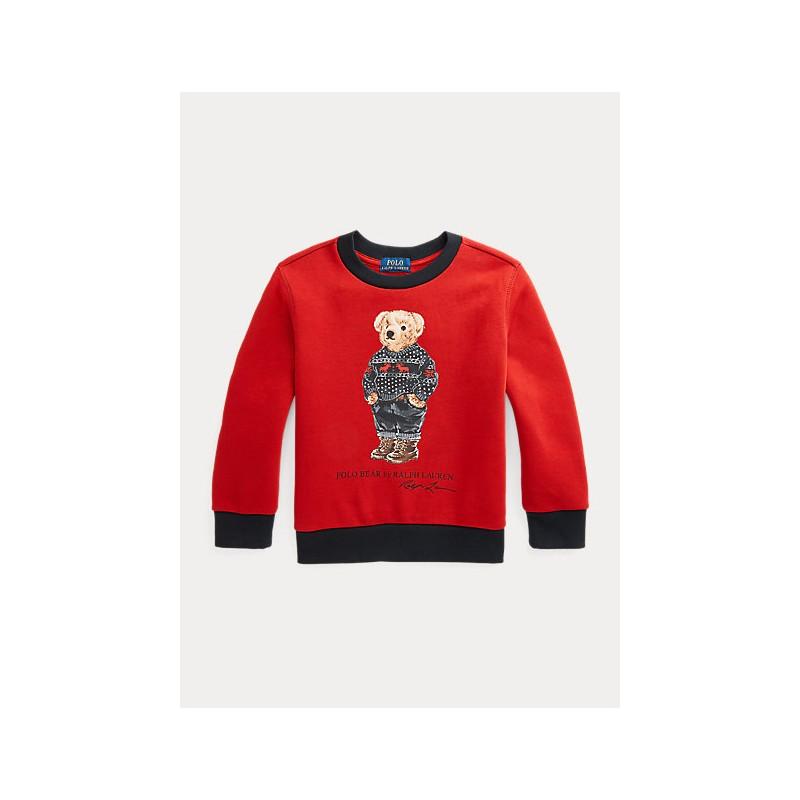 POLO RALPH LAUREN - Felpa Polo orso 322853820 - Rosso