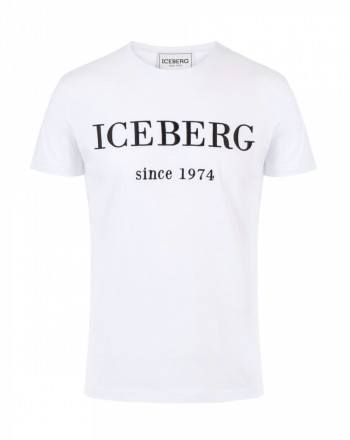 ICEBERG - T-Shirt con Logo - Bianco