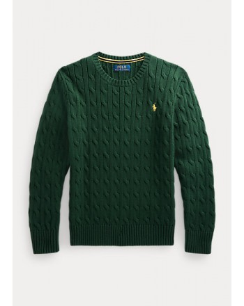 POLO RALPH LAUREN - Cable-knit cotton sweater 321/322702674 - College Green