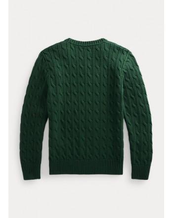 POLO RALPH LAUREN - Maglia in cotone a trecce 321/322702674 - College Green