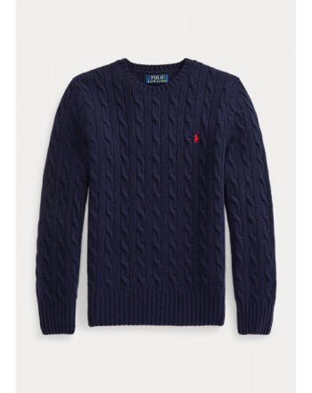 POLO RALPH LAUREN - Cable-knit cotton sweater 321/322702674 - Navy