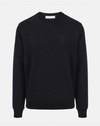 ICEBERG - Felpa Girocollo con Logo - Nero