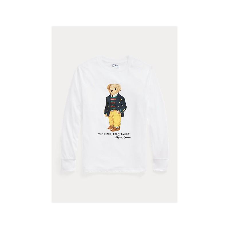POLO RALPH LAUREN - Maglietta Polo Bear in jersey 321/3228520 - Bianco