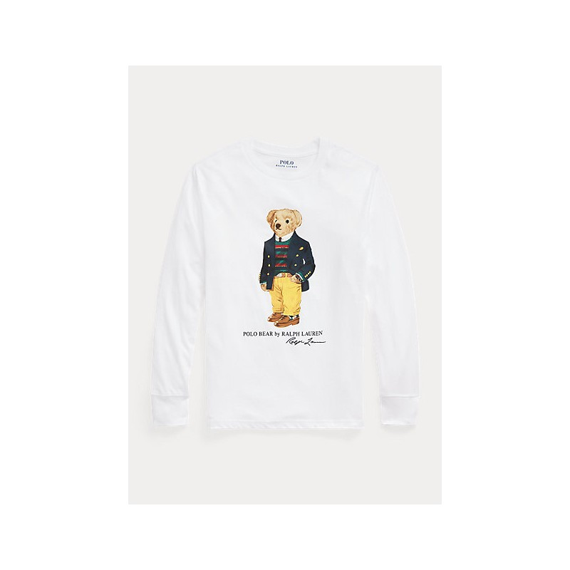 POLO RALPH LAUREN - Polo Bear Maglietta in jersey 321/3228520 - Bianco
