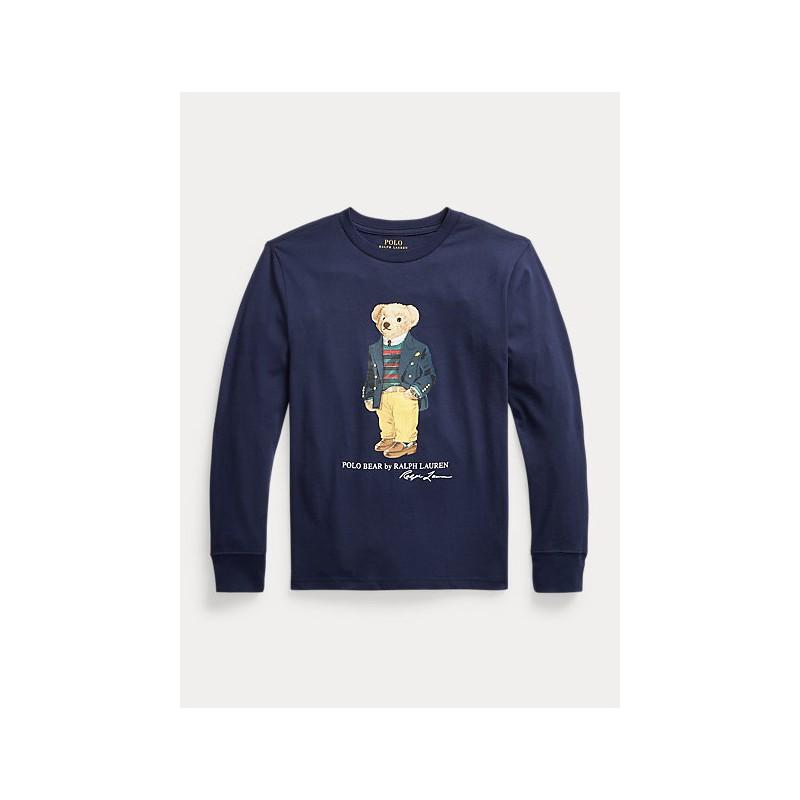 POLO RALPH LAUREN - Maglietta Polo Bear in jersey 321/3228520 - Navy