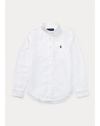 POLO RALPH LAUREN - Camicia Oxford in cotone Slim-Fit 322819238 - Bianco