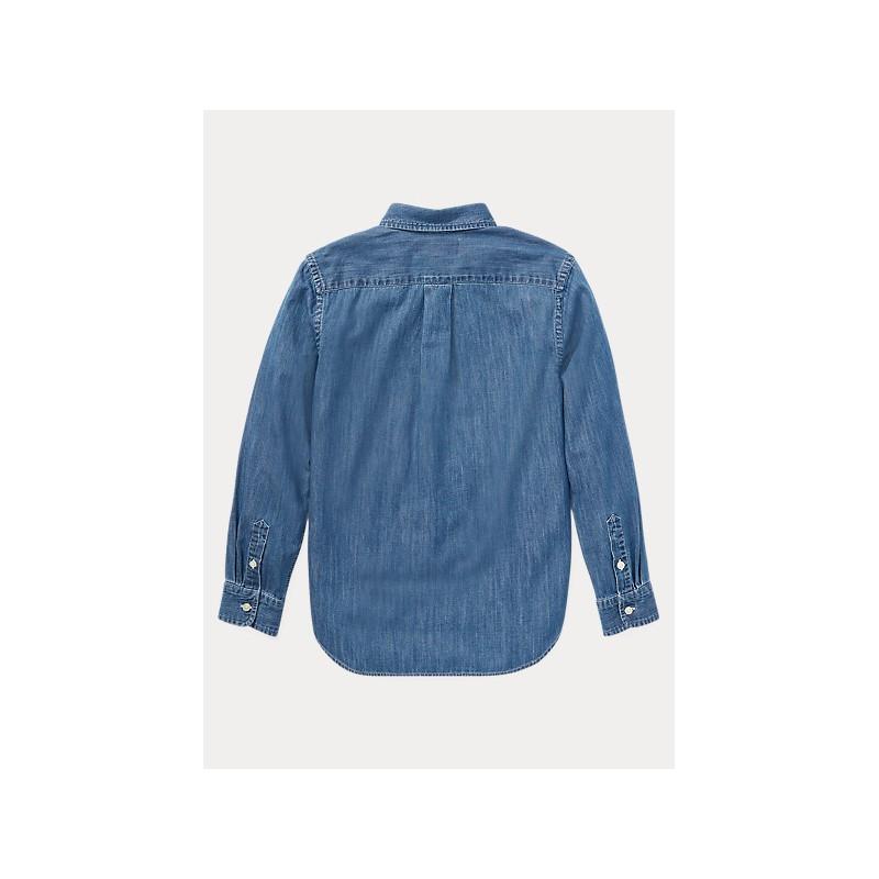 POLO RALPH LAUREN - Camicia Oxford in cotone Slim-Fit 313698854 - Denim