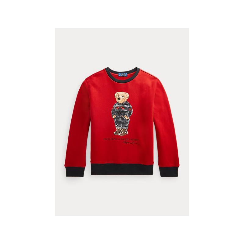 POLO RALPH LAUREN - Felpa Polo Bear 323853820 - Rosso