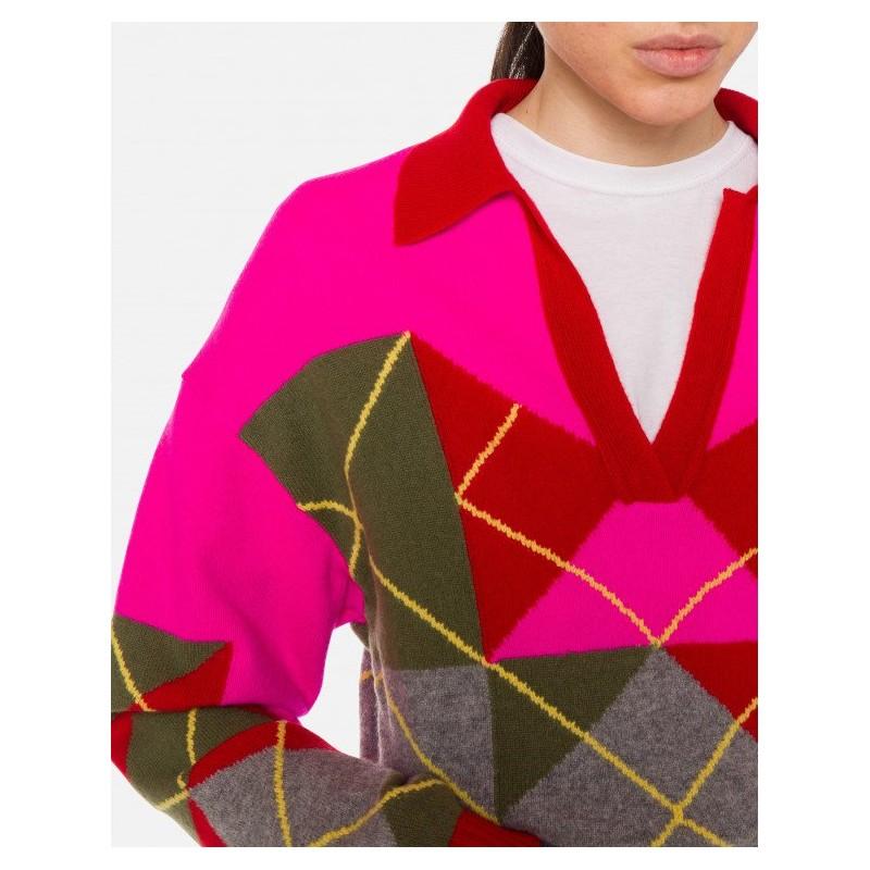 PHILOSOPHY di LORENZO SERAFINI - Blended Cashmere Knit - Multicolor Fuchsia
