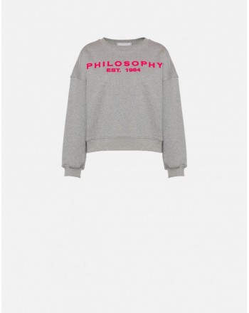 PHILOSOPHY di LORENZO SERAFINI - Logo Sweatshirt - Grey