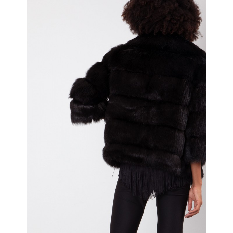 FREEDOMDAY - Reversible faux fur IFRW675AB590 - Black