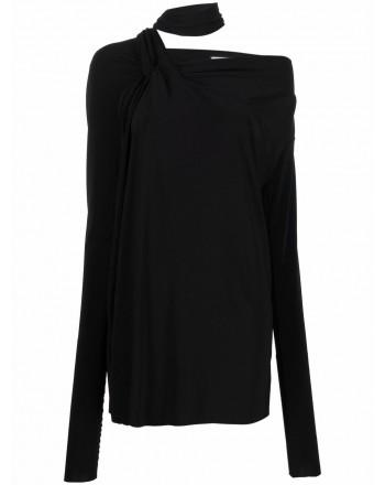 SPORTMAX -  CAREZZA Scarf Detail Knit - Black