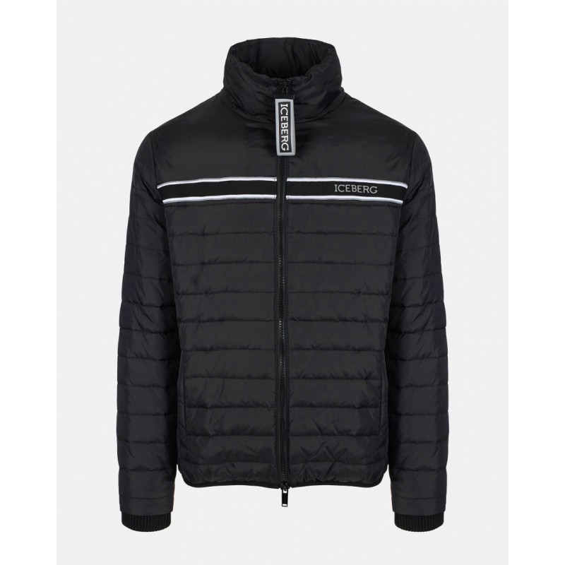 ICEBERG - 3D Logo Down Jacket - Black