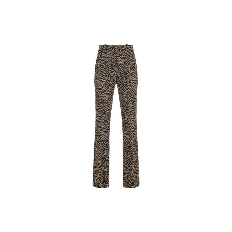 PINKO - ABHA 4 Pantalone - Nero/Cammello