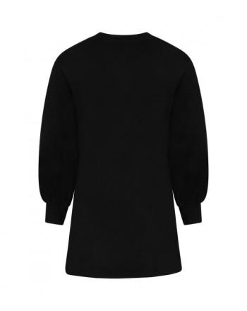 MSGM - Black girl dress with black logo MS027690 - Black