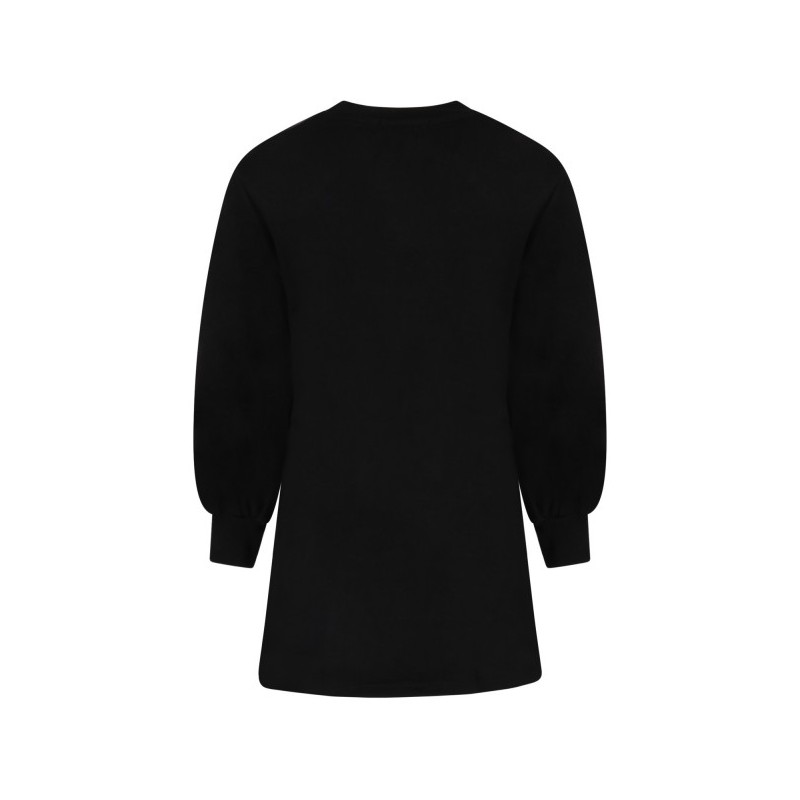 MSGM - Vestito nero per bambina con logo nero MS027690 - Nero