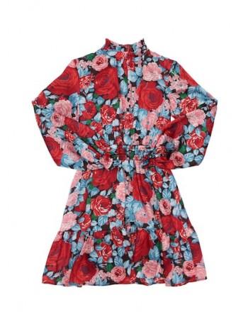 MSGM - Printed satin dress MS027757 - Multicolor