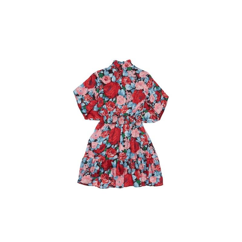 MSGM - Vestito in raso stampato MS027757 - Multicolor