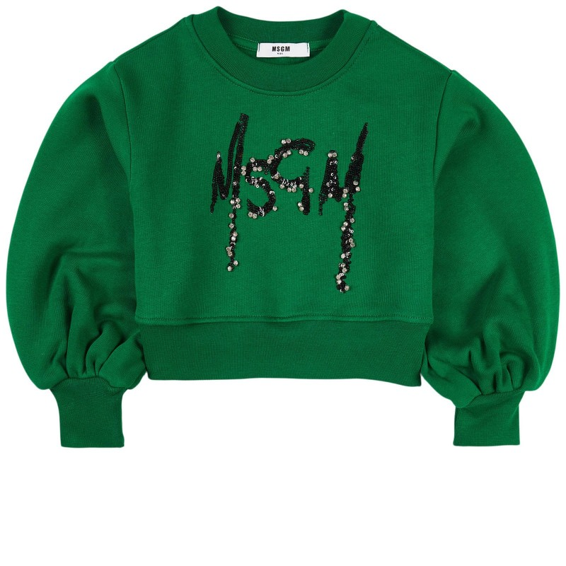 MSGM - Logo sweatshirt MS027793 - Green