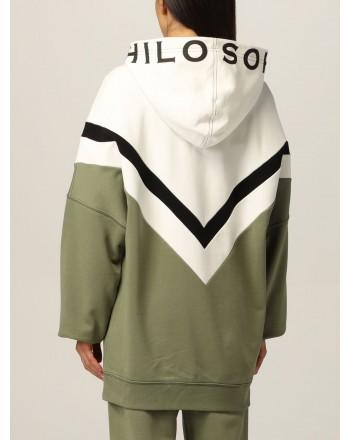 PHILOSOPHY di LORENZO SERAFINI - Diagonal Logo Sweatshirt - Multicolor Green