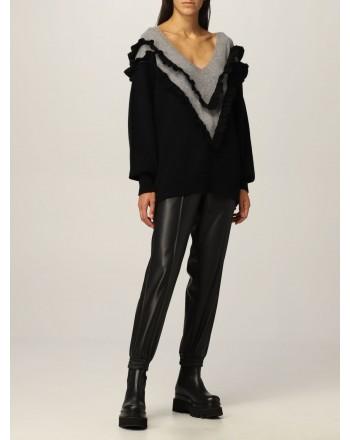 PHILOSOPHY di LORENZO SERAFINI - Blended Cashmere Frills Knit - Black/Grey