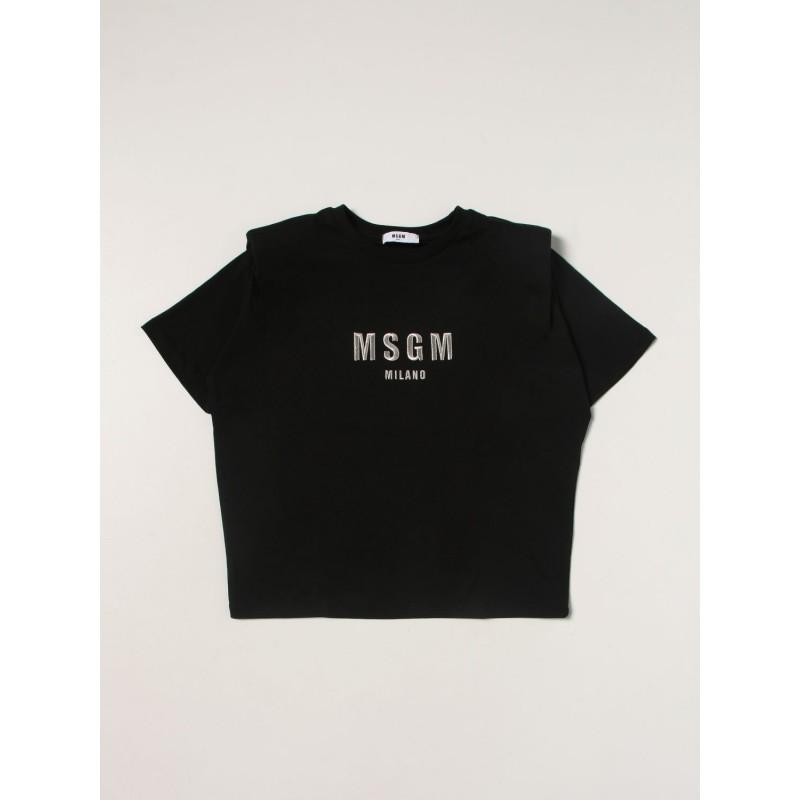 MSGM - MS027794 short sleeve T-Shirt - Black