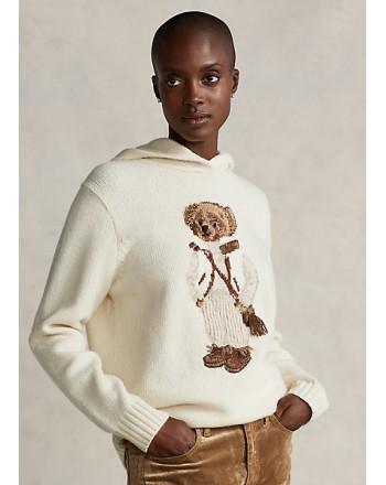 POLO RALPH LAUREN - POLO BEAR Blended Wool Knit - Cream