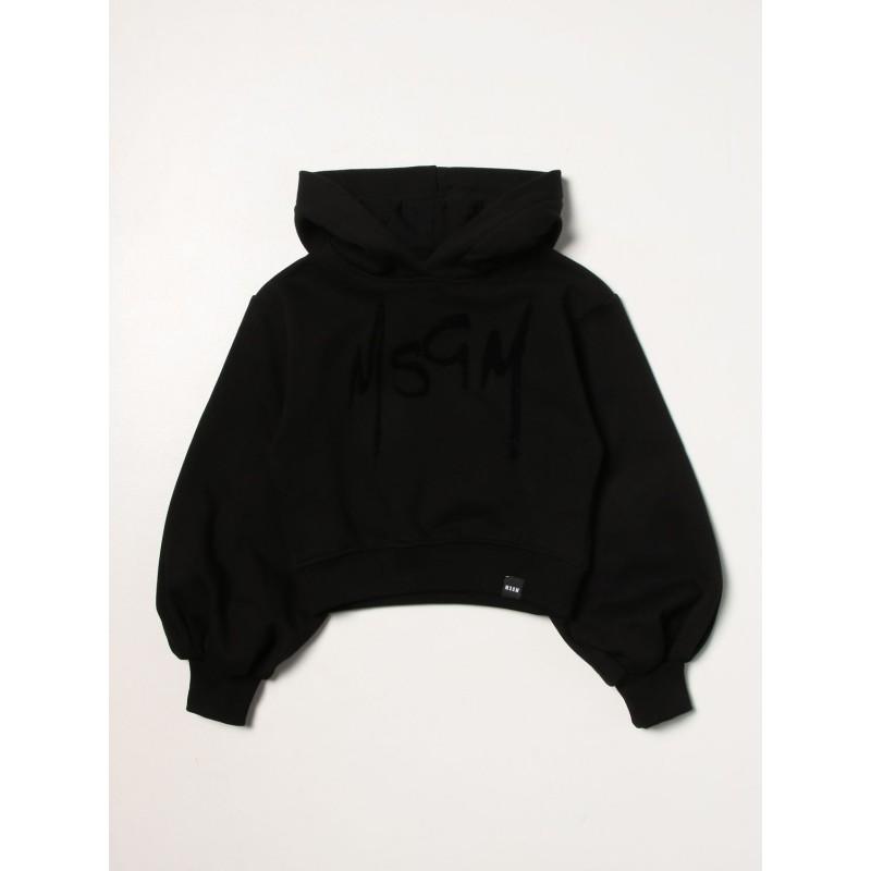 MSGM - Girl short hoodie MS027691 - Black