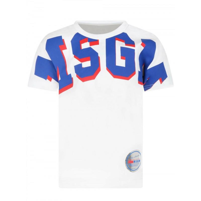 MSGM - T-Shirt manica corta MS027957 - Bianco