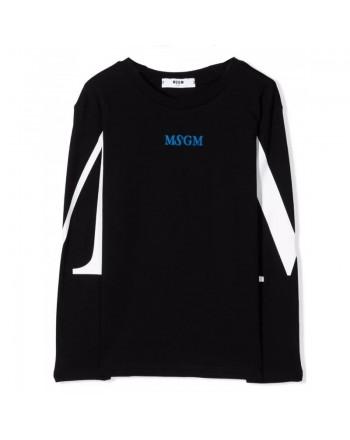 MSGM - T-Shirt manica lunga MS027908 - Nero