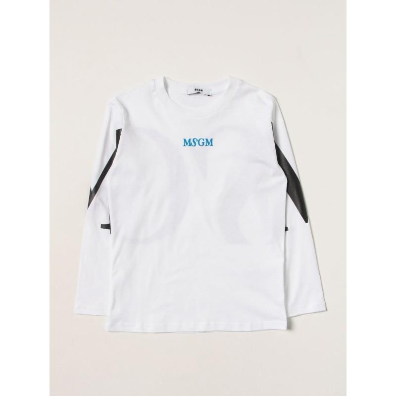 MSGM - T-Shirt manica lunga MS027908 - Bianco