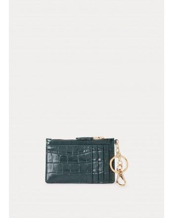 POLO RALPH LAUREN - Croco Printed Wallet - Racing Green