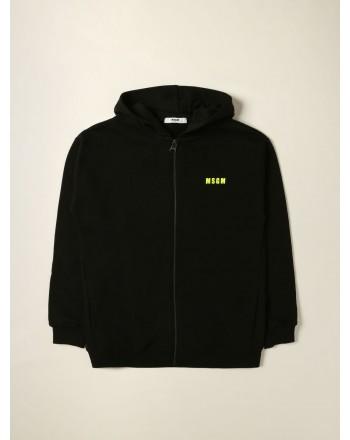 MSGM - Zip over hoodie MS027894 - Black
