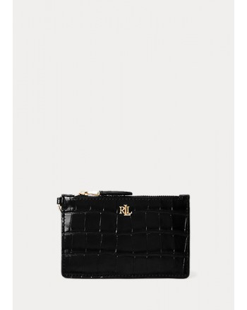 POLO RALPH LAUREN - Croco Printed Wallet - Black