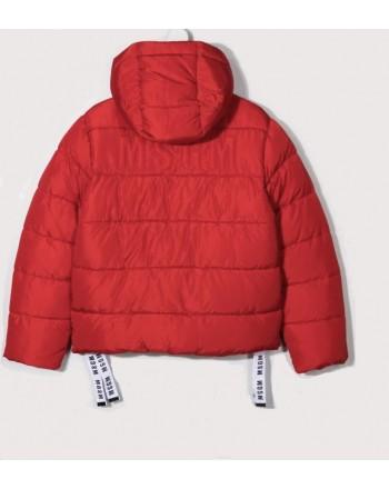 MSGM - Piumino cappuccio nylon boy MS027861 - Rosso