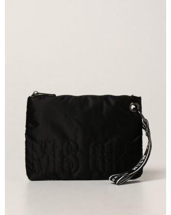 MSGM - Girl nylon padded clutch bag MS027725 - Black