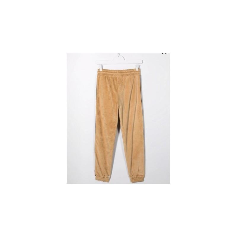 GCDS BABY - Pantaloni sportivi con patch logo TEEN 028465 - Fango